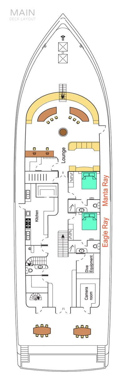deck plan liveaboard carpe novo maindeck