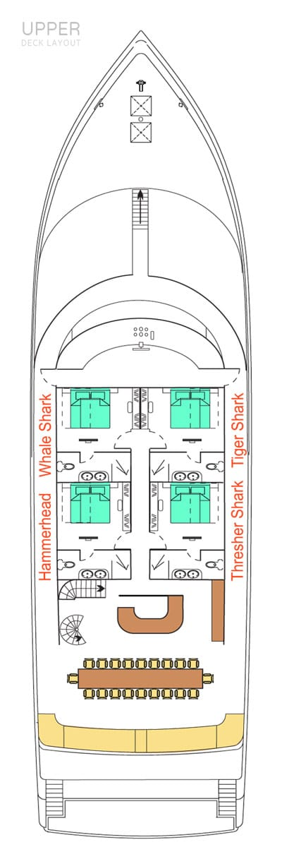 deck plan liveaboard carpe novo upperdeck