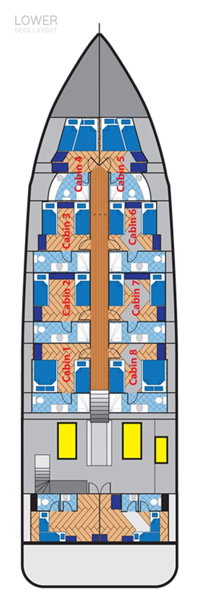 deck plan liveaboard duke of york lowerdeck