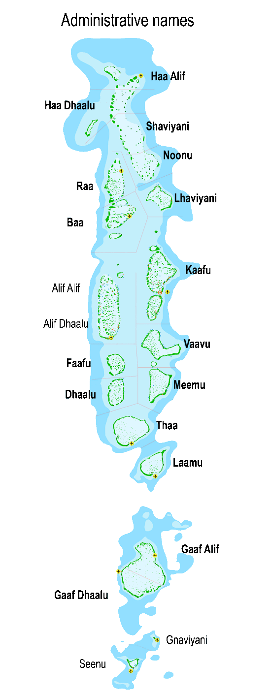 maldives atolls administrative names